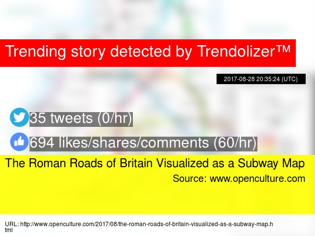 Roman Roads As A Subway Map.The Roman Roads Of Britain Visualized As A Subway Map