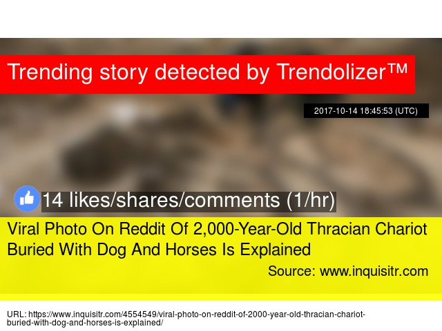 Viral Photo On Reddit Of 2,000-Year-Old Thracian Chariot